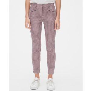 Gap Checkered Plaid Signature Skinny Ankle Pants